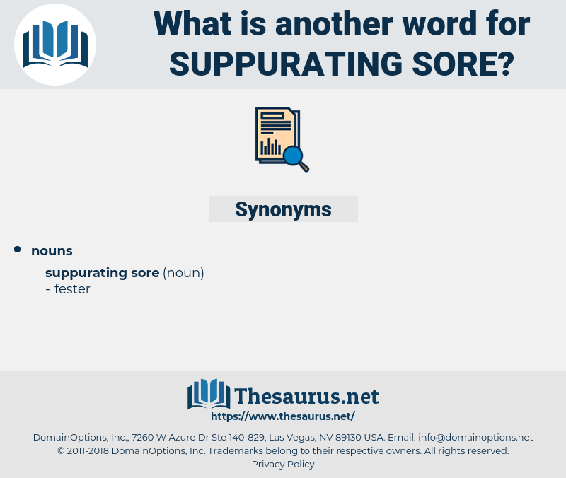 suppurating sore, synonym suppurating sore, another word for suppurating sore, words like suppurating sore, thesaurus suppurating sore