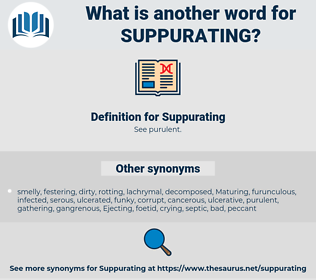 Suppurating, synonym Suppurating, another word for Suppurating, words like Suppurating, thesaurus Suppurating