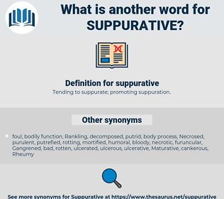 suppurative, synonym suppurative, another word for suppurative, words like suppurative, thesaurus suppurative