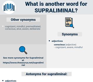 supraliminal, synonym supraliminal, another word for supraliminal, words like supraliminal, thesaurus supraliminal