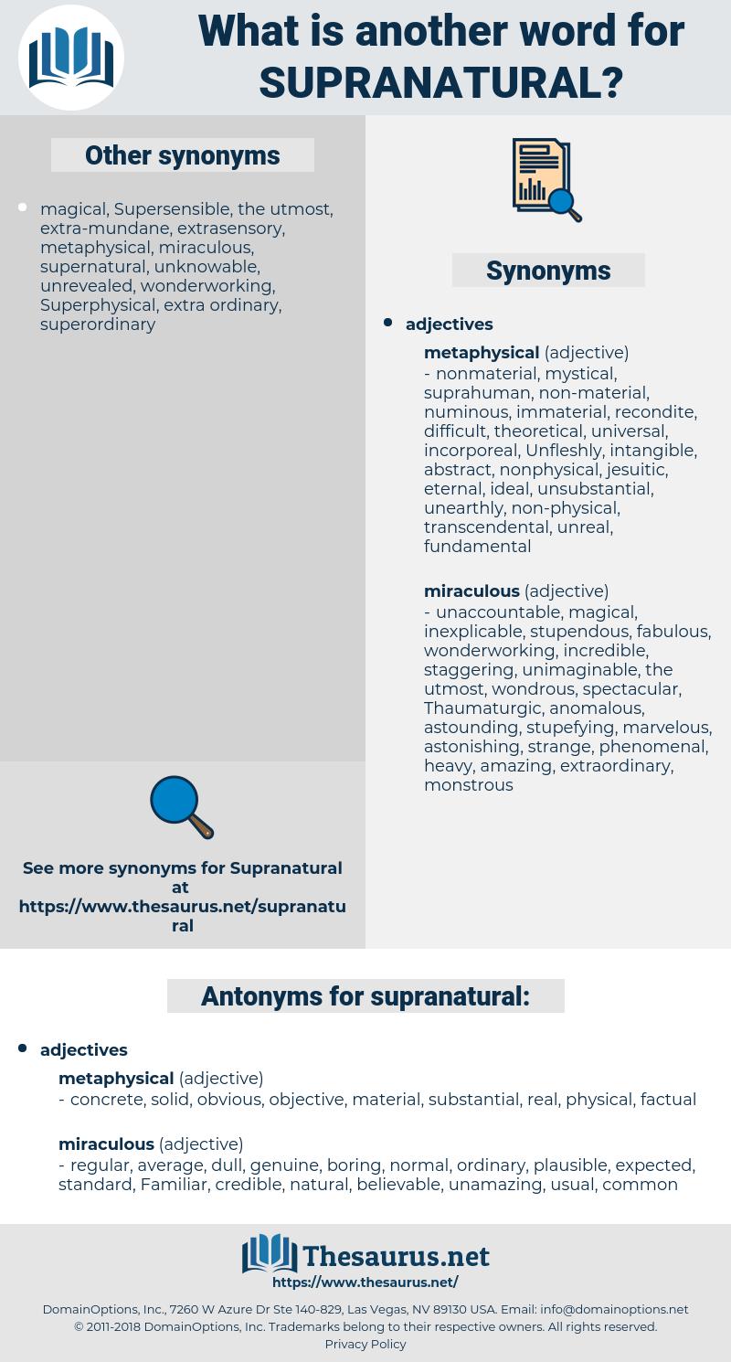 supranatural, synonym supranatural, another word for supranatural, words like supranatural, thesaurus supranatural