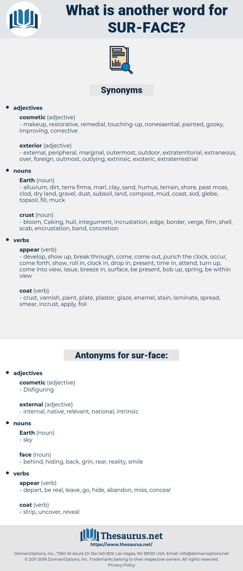 sur-face, synonym sur-face, another word for sur-face, words like sur-face, thesaurus sur-face