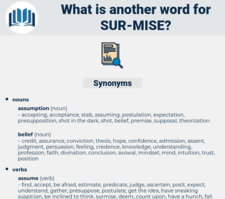 sur mise, synonym sur mise, another word for sur mise, words like sur mise, thesaurus sur mise