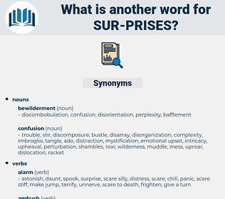 sur prises, synonym sur prises, another word for sur prises, words like sur prises, thesaurus sur prises