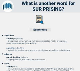 sur-prising, synonym sur-prising, another word for sur-prising, words like sur-prising, thesaurus sur-prising