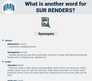 sur-renders, synonym sur-renders, another word for sur-renders, words like sur-renders, thesaurus sur-renders