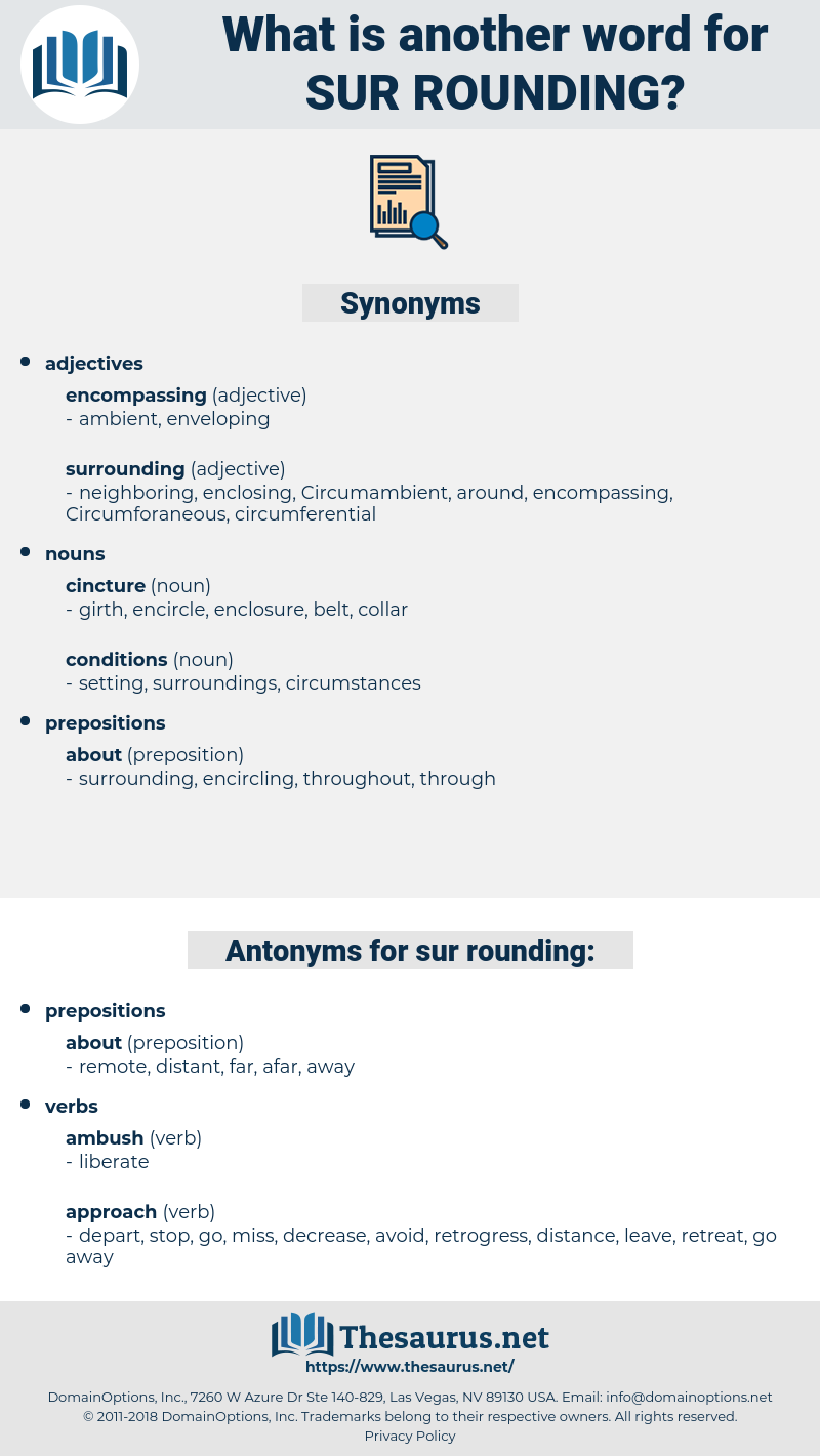 sur-rounding, synonym sur-rounding, another word for sur-rounding, words like sur-rounding, thesaurus sur-rounding