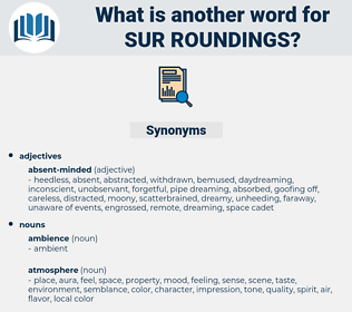 sur roundings, synonym sur roundings, another word for sur roundings, words like sur roundings, thesaurus sur roundings