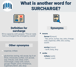 surcharge, synonym surcharge, another word for surcharge, words like surcharge, thesaurus surcharge