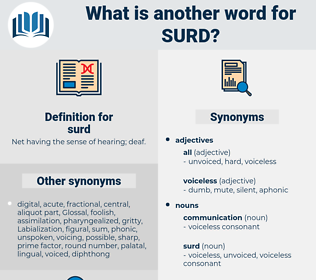 surd, synonym surd, another word for surd, words like surd, thesaurus surd