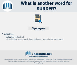 surder, synonym surder, another word for surder, words like surder, thesaurus surder