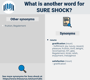 sure shock, synonym sure shock, another word for sure shock, words like sure shock, thesaurus sure shock