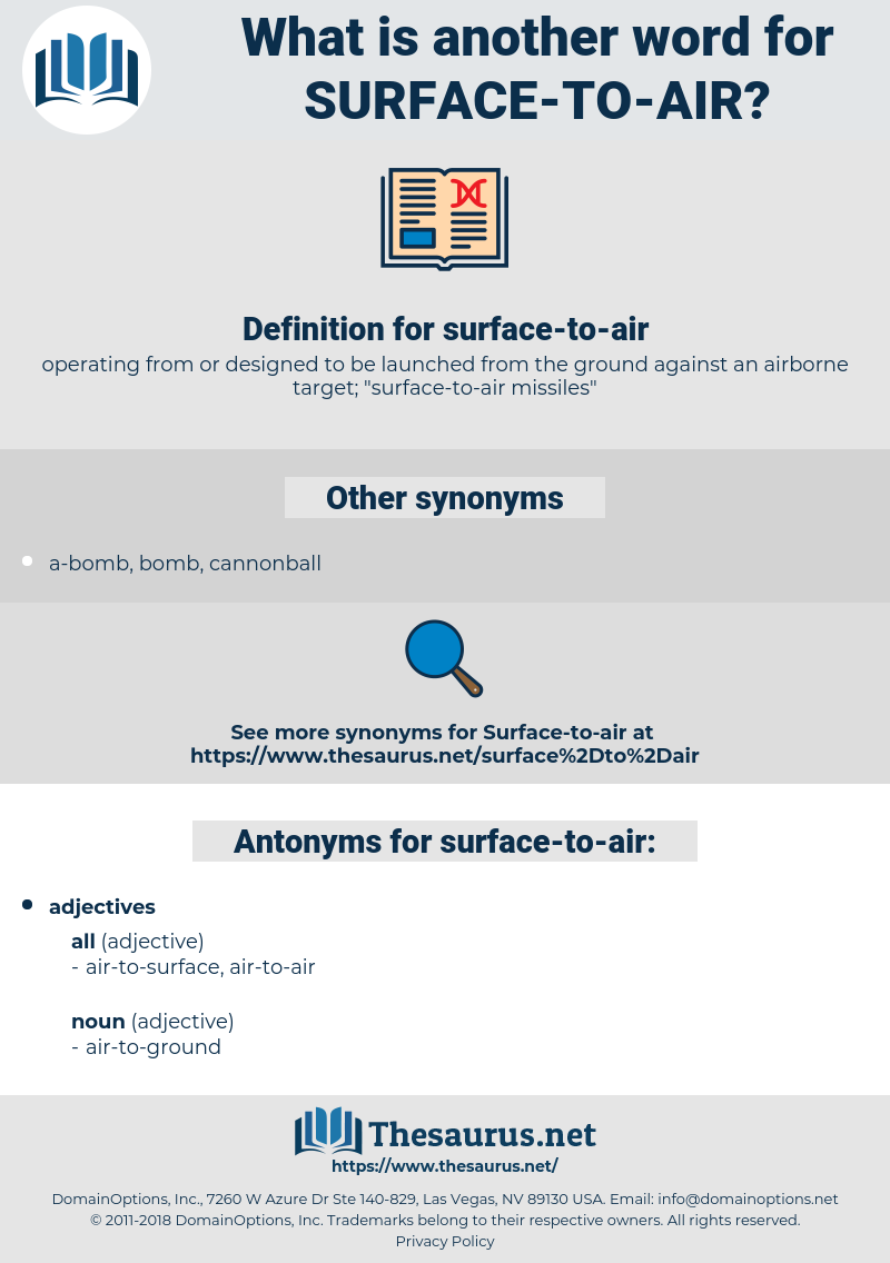 surface-to-air, synonym surface-to-air, another word for surface-to-air, words like surface-to-air, thesaurus surface-to-air