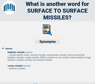 surface-to-surface missiles, synonym surface-to-surface missiles, another word for surface-to-surface missiles, words like surface-to-surface missiles, thesaurus surface-to-surface missiles