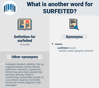 surfeited, synonym surfeited, another word for surfeited, words like surfeited, thesaurus surfeited