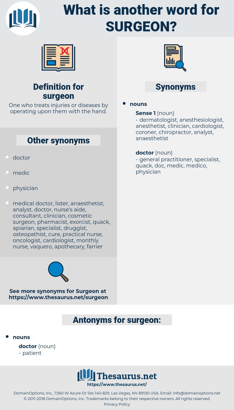 surgeon, synonym surgeon, another word for surgeon, words like surgeon, thesaurus surgeon