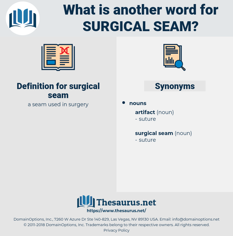 surgical seam, synonym surgical seam, another word for surgical seam, words like surgical seam, thesaurus surgical seam