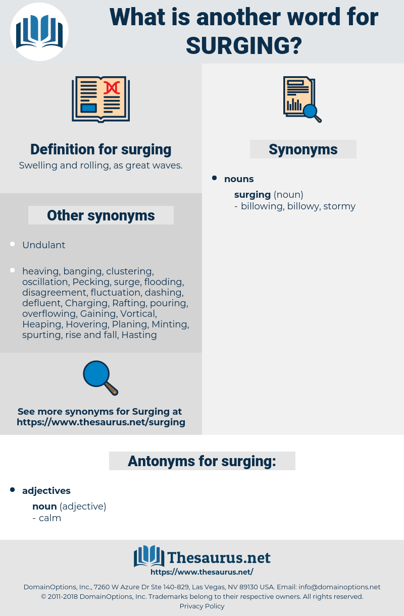 surging, synonym surging, another word for surging, words like surging, thesaurus surging
