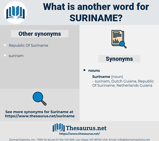 suriname, synonym suriname, another word for suriname, words like suriname, thesaurus suriname
