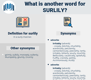 surlily, synonym surlily, another word for surlily, words like surlily, thesaurus surlily