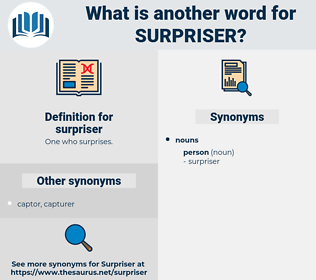 surpriser, synonym surpriser, another word for surpriser, words like surpriser, thesaurus surpriser