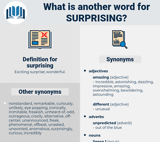 surprising, synonym surprising, another word for surprising, words like surprising, thesaurus surprising