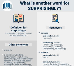 surprisingly, synonym surprisingly, another word for surprisingly, words like surprisingly, thesaurus surprisingly