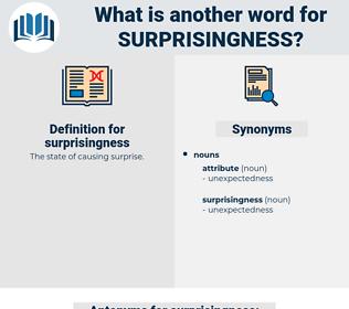 surprisingness, synonym surprisingness, another word for surprisingness, words like surprisingness, thesaurus surprisingness