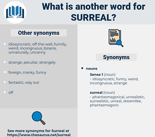 surreal, synonym surreal, another word for surreal, words like surreal, thesaurus surreal