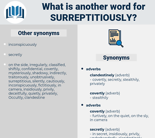 surreptitiously, synonym surreptitiously, another word for surreptitiously, words like surreptitiously, thesaurus surreptitiously