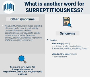 surreptitiousness, synonym surreptitiousness, another word for surreptitiousness, words like surreptitiousness, thesaurus surreptitiousness