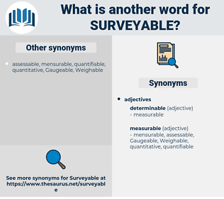 surveyable, synonym surveyable, another word for surveyable, words like surveyable, thesaurus surveyable