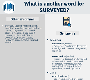Surveyed, synonym Surveyed, another word for Surveyed, words like Surveyed, thesaurus Surveyed