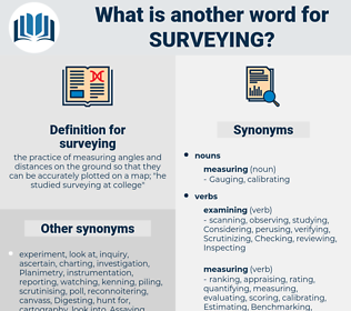 surveying, synonym surveying, another word for surveying, words like surveying, thesaurus surveying