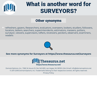surveyors, synonym surveyors, another word for surveyors, words like surveyors, thesaurus surveyors