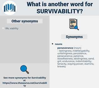 survivability, synonym survivability, another word for survivability, words like survivability, thesaurus survivability