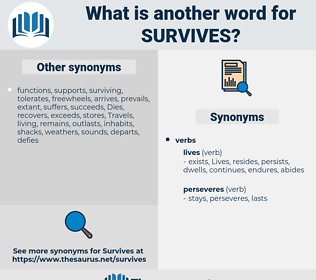 survives, synonym survives, another word for survives, words like survives, thesaurus survives