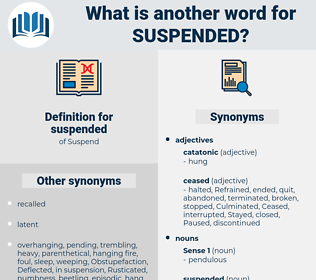 suspended, synonym suspended, another word for suspended, words like suspended, thesaurus suspended