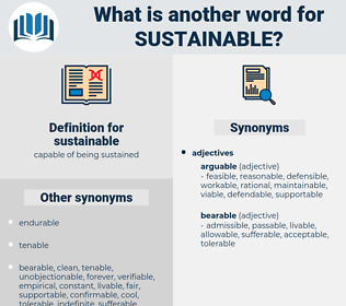 sustainable, synonym sustainable, another word for sustainable, words like sustainable, thesaurus sustainable