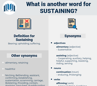 Sustaining, synonym Sustaining, another word for Sustaining, words like Sustaining, thesaurus Sustaining