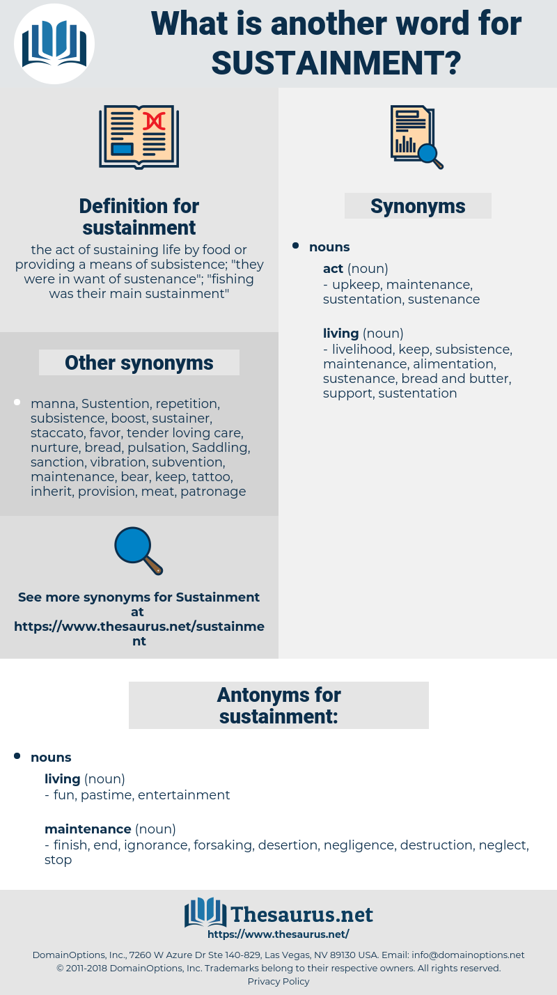 sustainment, synonym sustainment, another word for sustainment, words like sustainment, thesaurus sustainment