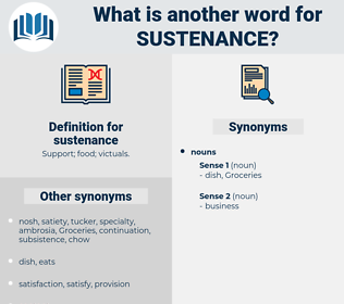 sustenance, synonym sustenance, another word for sustenance, words like sustenance, thesaurus sustenance
