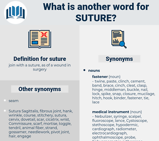 suture, synonym suture, another word for suture, words like suture, thesaurus suture