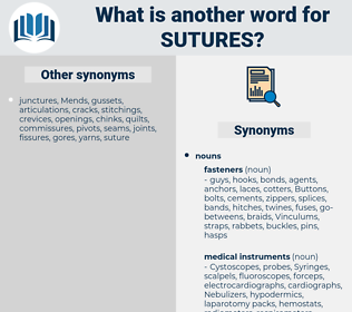 Sutures, synonym Sutures, another word for Sutures, words like Sutures, thesaurus Sutures