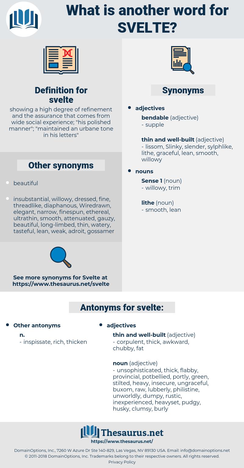svelte, synonym svelte, another word for svelte, words like svelte, thesaurus svelte
