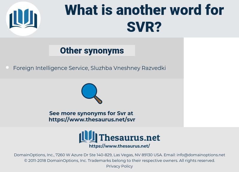 SVR, synonym SVR, another word for SVR, words like SVR, thesaurus SVR