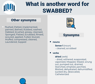 Swabbed, synonym Swabbed, another word for Swabbed, words like Swabbed, thesaurus Swabbed