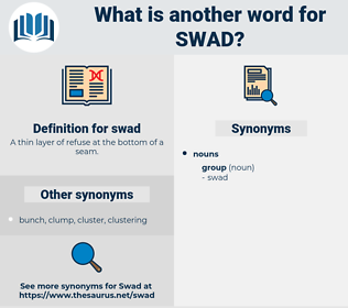 swad, synonym swad, another word for swad, words like swad, thesaurus swad