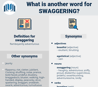 swaggering, synonym swaggering, another word for swaggering, words like swaggering, thesaurus swaggering