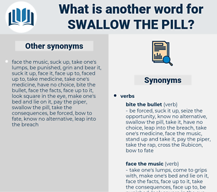 swallow the pill, synonym swallow the pill, another word for swallow the pill, words like swallow the pill, thesaurus swallow the pill